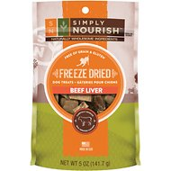 Simply Nourish Beef Liver Grain-Free Freeze-Dried Dog Treats, 5-oz bag