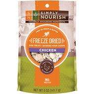 Simply Nourish Chicken Grain-Free Freeze-Dried Dog Treats, 5-oz bag