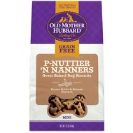 Old Mother Hubbard Mini P-Nuttier 'N Nanners Grain-Free Biscuits Baked Dog Treats, 16-oz bag