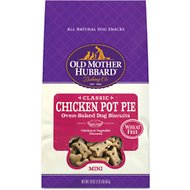 Old Mother Hubbard Mini Classic Chicken Pot Pie Biscuits Baked Dog Treats, 20-oz bag