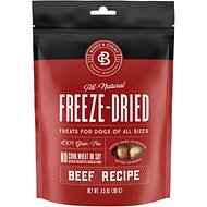 Bones & Chews All-Natural Beef Recipe Freeze-Dried Dog Treats, 3.5-oz bag