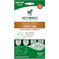 Vet's Best Flea & Tick Spot-on Drops Topical Treatment for Dogs, Medium (16-40 lbs)