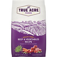 True Acre Foods Beef & Vegetable Recipe Grain-Free Dry Dog Food, 15-lb bag