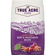 True Acre Foods Beef & Vegetable Recipe Grain-Free Dry Dog Food, 30-lb bag