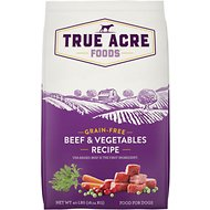 True Acre Foods Grain-Free Beef & Vegetable Dry Dog Food, 40-lb bag