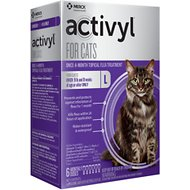 Activyl Flea Treatment for Cats Over 9 lbs, 6 treatments