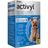 Activyl Flea Treatment for Toy Dogs & Puppies, 4-14 lbs, 3 treatments