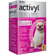 Activyl Flea Treatment for Small Dogs & Puppies, 15-22 lbs, 3 treatments
