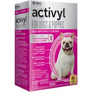 Activyl Flea Treatment for Small Dogs & Puppies, 15-22 lbs, 6 treatments