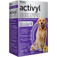 Activyl Flea Treatment for Large Dogs & Puppies, 45-88 lbs, 3 treatments