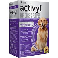 Activyl Flea Treatment for Large Dogs & Puppies, 45-88 lbs, 6 treatments