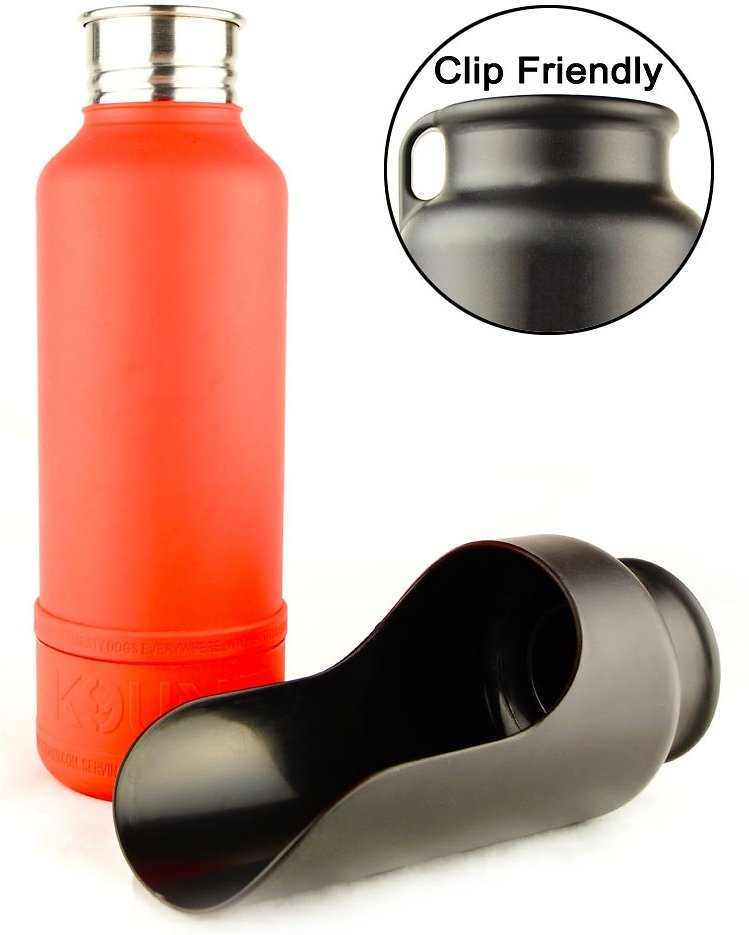 H2o4k9 Dog Water Bottle Travel Bowl Gadget Flow: H2O4K9 K9 UNIT Insulated Stainless Steel Dog Water Bottle