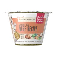 The Honest Kitchen Grain-Free Beef Recipe Dehydrated Dog Food, 1.75-oz cup, case of 12