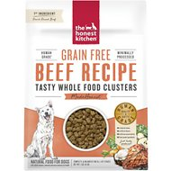 The Honest Kitchen Grain-Free Beef Whole Food Clusters Dry Dog Food, 1-lb bag
