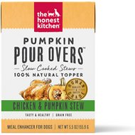 The Honest Kitchen Pumpkin POUR OVERS Chicken & Pumpkin Stew Wet Dog Food Topper, 5.5-oz, case of 12
