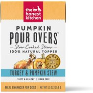 The Honest Kitchen Pumpkin POUR OVERS Turkey & Pumpkin Stew Wet Dog Food Topper, 5.5-oz, case of 12