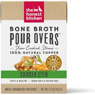 The Honest Kitchen Bone Broth POUR OVERS Chicken Stew Wet Dog Food Topper, 5.5-oz, case of 12