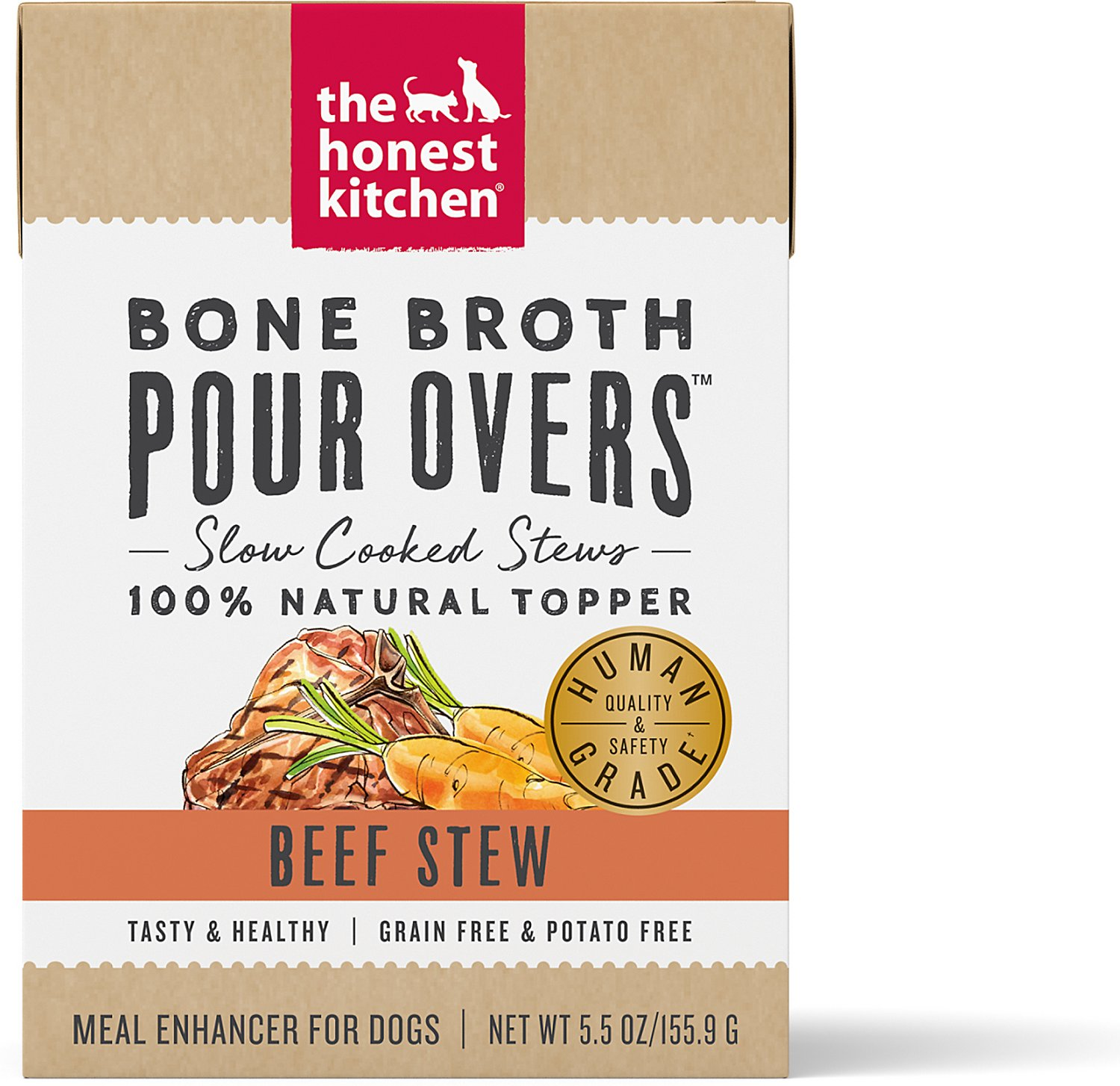 The Honest Kitchen Bone Broth Pour Overs Beef Stew Wet Dog Food