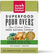 The Honest Kitchen Superfood POUR OVERS Chicken Stew with Veggies Wet Dog Food Topper, 5.5-oz, case of 12