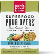 The Honest Kitchen Superfood POUR OVERS Turkey Stew with Veggies Wet Dog Food Topper, 5.5-oz, case of 12