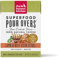 The Honest Kitchen Superfood POUR OVERS Lamb & Beef Stew with Veggies Wet Dog Food Topper, 5.5-oz, case of 12