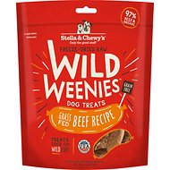 Stella & Chewy's Beef Wild Weenies Freeze-Dried Raw Dog Treats, 3.25-oz bag