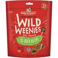 Stella & Chewy's Duck Wild Weenies Freeze-Dried Raw Dog Treats, 3.25-oz bag