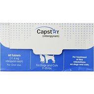 Capstar Flea Tablets for Dogs & Cats, 2-25 lbs, 60 count