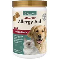 NaturVet Aller-911 Allergy Aid Plus Antioxidants Cat & Dog Soft Chews, 180 count