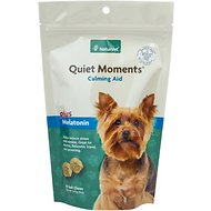NaturVet Quiet Moments Calming Aid Plus Melatonin Dog Soft Chews, 65 count
