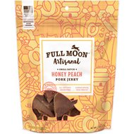 Full Moon Artisanal Small Batch Honey Peach Pork Jerky Dog Treats, 12-oz bag
