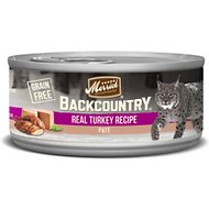 Merrick Backcountry Grain-Free Turkey Pate Canned Cat Food, 3-oz case of 24