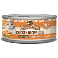 Merrick Purrfect Bistro Grilled Chicken Recipe Grain-Free Canned Cat Food, 5.5-oz, case of 24