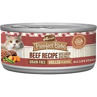 Merrick Purrfect Bistro Grilled Beef & Vegetables Recipe Grain-Free Canned Cat Food, 3-oz, case of 24