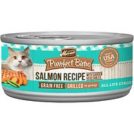 Merrick Purrfect Bistro Grilled Salmon Recipe Grain-Free Canned Cat Food, 3-oz, case of 24
