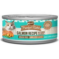 Merrick Purrfect Bistro Grilled Salmon Recipe Grain-Free Canned Cat Food, 5.5-oz, case of 24