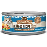 Merrick Purrfect Bistro Mixed Seafood Grill Recipe Grain-Free Canned Cat Food, 5.5-oz, case of 24