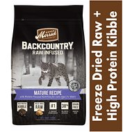 Merrick Backcountry Raw Infused Mature Recipe Dry Cat Food, 6-lb bag