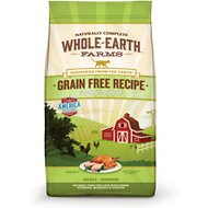 Whole Earth Farms Grain-Free Indoor Chicken & Turkey Adult Recipe Dry Cat Food, 10-lb bag