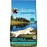 Dave's Pet Food Grain-Free Pork Meal & Sweet Potato Dinner Dry Dog Food, 4-lb bag