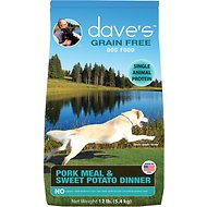Dave's Pet Food Grain-Free Pork Meal & Sweet Potato Dinner Dry Dog Food, 12-lb bag