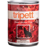 PetKind Tripett Green Venison Tripe Grain- Free Canned Dog Food,13-oz, case of 12