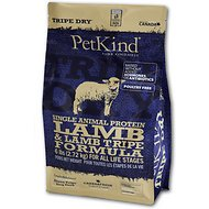PetKind Tripe Dry Single Animal Protein Lamb & Lamb Tripe Formula Dry Dog Food, 6-lb bag