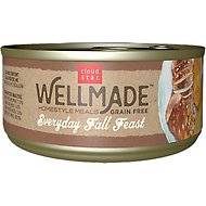 Cloud Star WellMade Homestyle Meals Everyday Fall Feast With Turkey Recipe Grain-Free Canned Dog Food, 3.5-oz, case of 24