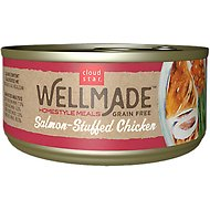 Cloud Star WellMade Homestyle Meals Salmon-Stuffed Chicken Recipe Grain-Free Canned Dog Food, 3.5-oz, case of 24
