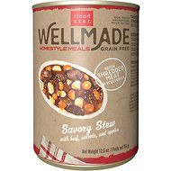 Cloud Star WellMade Homestyle Meals Savory Stew With Beef Recipe Grain-Free Canned Dog Food, 12.5-oz, case of 12