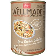 Cloud Star WellMade Homestyle Meals Slow Cooker Chicken Recipe Grain-Free Canned Dog Food, 12.5-oz, case of 12