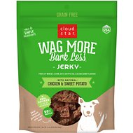 Cloud Star Wag More Bark Less Chicken & Sweet Potato Recipe Grain-Free Jerky Dog Treats, 10-oz bag