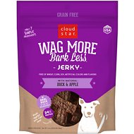 Cloud Star Wag More Bark Less Duck & Apple Recipe Grain-Free Jerky Dog Treats, 10-oz bag