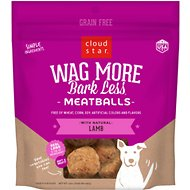 Cloud Star Wag More Bark Less Lamb Recipe Meatballs Grain-Free Dog Treats, 14-oz bag
